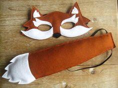 Felt Fox mask and tail set by littlebitdesignshop on Etsy, via Etsy.