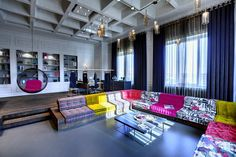 The space is designed as an office for young and dynamic marketing manager of a textile company. The headquarter building of the company is an industrial space . On the contrary, the office was designed as an cosy, dynamic, hospitable and lively...