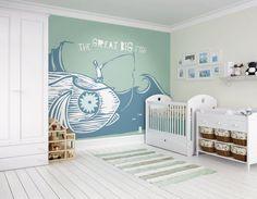 Great Big Fish Photo Wallpaper Wall Mural, Children's Bedroom Room Decor by…