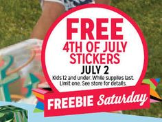 FREE 4th of July Stickers at Kmart Today on http://www.icravefreebies.com/