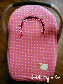 Someday Crafts: Guest Blogger - Small Fry and Co. - Peekaboo Carseat Cover From A Receiving Blanket