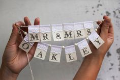 Mr. Mrs.and YOUR name Personalized Сustom Lace by RusticBeachChic, $25.00