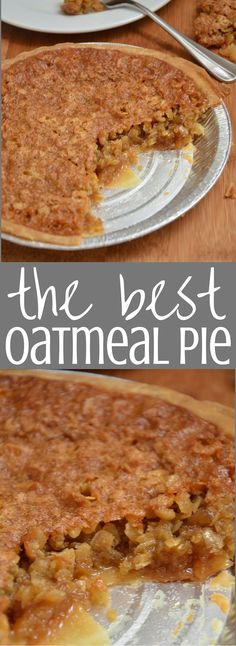 Oatmeal Pie. My grandmother has been making this sweet chewy delicious pie for…