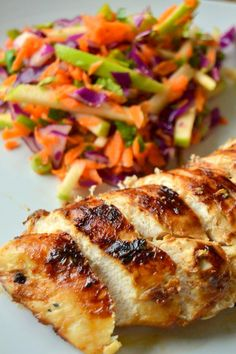 Angry Orchard Hard Cider Marinated Chicken with Apple Slaw