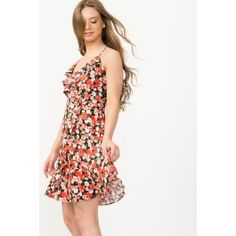 Floral Flounce Skater Dress