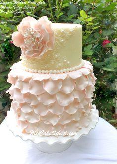 Elegant Fondant Petal Cake Tutorial~Member Video Library~ By MyCakeSchool.com