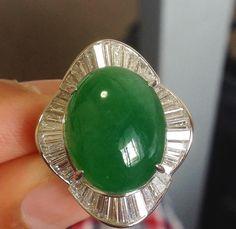 @ag_hoshoku_japan Jadeite ring 30 ct #jewelry #jade #jadeite #ring