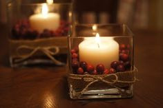 Thanksgiving or Christmas Cranberry Centerpieces - Lady's Little Loves