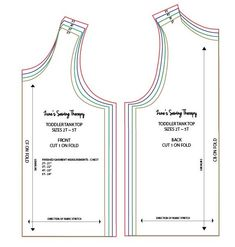 Toddler Tank Top Tutorial with Free Pattern - Tank Tops - Ideas of Tank Tops - DIY tank top for kids with free pattern in toddler sizes. Tank Top Tutorial, Toddler Sewing Patterns, Pattern Sewing, Clothes Patterns, Dress Patterns, Diy Tank, Diy Shirt, Free Sewing, Diy Clothes