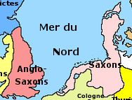 The Saxons (Latin: Saxones, Old English: Seaxe, Old Saxon: Sahson, Low German: Sassen, German: Sachsen, Dutch: Saksen, Romanian: Sași) were a confederation of Germanic tribes centered in the western North German Plain. They settled in large parts of Great Britain in the early Middle Ages and formed part of the merged group of Anglo-Saxons who eventually organised the first united Kingdom of England.