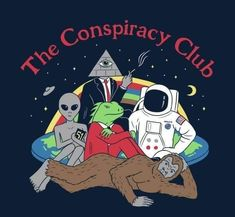 art - The Conspiracy Club TShirt Bizarre Kunst, Bizarre Art, Psychedelic Art, Art And Illustration, Ufo, Wow Art, Area 51, Aesthetic Art, Aesthetic Drawing