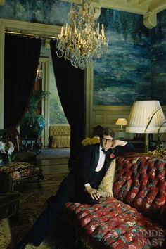 1980 - YSL by Lord Snowdon at Chateau Gabriel