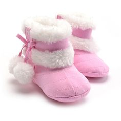 Girls Soft Plush Booties Infant Anti Slip Snow Boots 5 Colors Shoes Warm Cute Snow Baby Girl Winter Boots