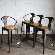 Our Licata Bar Stools have a high square seat with a metal back and arm rest a retro design require minimal assembly and are ideal for any restaurant café bistro bar kitchen or office. Rustic Bar Stools, Industrial Bar Stools, Outdoor Bar Stools, Bar Stool Chairs, Metal Bar Stools, High Chairs, Dining Chairs, Room Chairs, Vintage Bar Stools