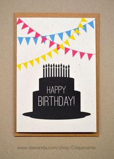 """+Wünsche einem lieben Menschen """"Herzlichen Glückwunsch zum Geburtstag"""" mit dieser fröhlichen Karte.+    - Text:  Vorderseite: *""""Herzlichen Glückwun..."""
