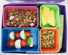Lunch - bruschetta lentil salad
