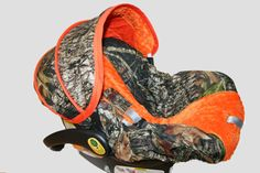 Hunters CAMO infant car seat cover- Custom Order by Baby Seat Covers By Jill - always comes with free strap covers