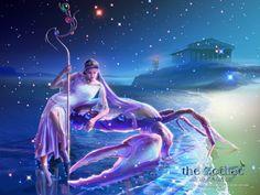 The Zodiac - Art by Kagaya: Cancer (via 4wallpapers.com)