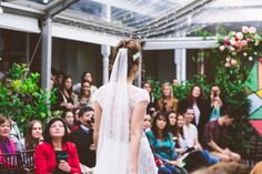 Buns and veils are perfect together.   Blow Dry Bar the Official Hair Partner of One Fine Day, Melbourne.