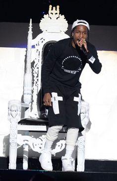 ASAP Rocky in Trap Lord gear