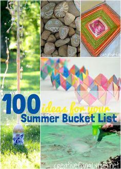 100 Ideas for Your Summer Bucket List ~ Creative Family Fun