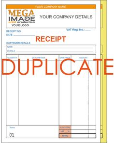 Personalised A Delivery Note Pads Sets Per Pad Invoice Pads - Personalised carbon copy invoice books