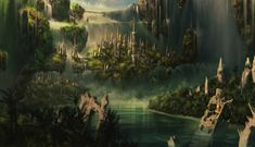 An imaginative illustration of a section of Middle-earth during the war.