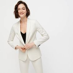 Shop J.Crew for the Parke blazer in bi-stretch cotton for Women. Find the best selection of Women Suits available in-stores and online. Womens Dress Suits, Suits For Women, Work Fashion, Fashion Outfits, Women's Fashion, Crew Clothing, Blazer Outfits, Wool Suit, Work Looks