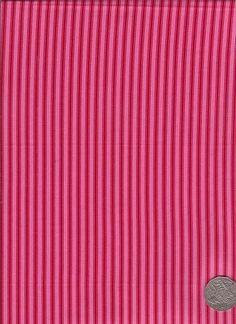"Ticking Pink/Red  ""Flower Child"" designed by Rosalie Dekker. (Quinlan)"