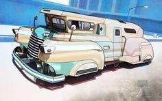 art deco vehicle design - Google Search