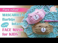 Filter Face Mask for Kids Love Crochet, Crochet For Kids, Diy Mask, Diy Face Mask, Crochet Crafts, Crochet Projects, Crochet Stitches, Crochet Patterns, Crochet Mask