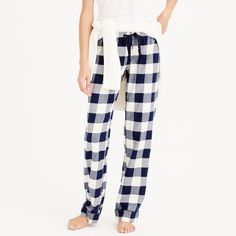 Pajama pant in buffalo check flannel : bottoms | J.Crew