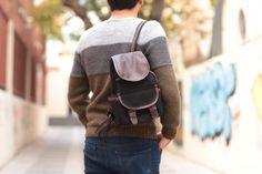 Agarapati Leather  ®  Premium Kanvas Sırt Çantası Kücük