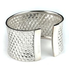 Balinesia Artisan Crafted Sterling Silver Woven Cuff Bracelet