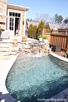 small pool off small patio