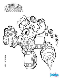 Magna Charge Skylanders Swap Force Party Coloring For Kids Pages
