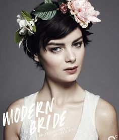 Image result for how to wear a floral.crown with short hair