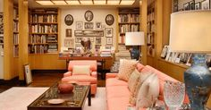 I love this library.  Once owned by Walter and Leonore Annenberg. #tvguide House Worth, Rancho Mirage, Palm Springs, Places Ive Been, Living Spaces, Palm Desert, Palm Beach, Gallery Wall, Mid Century
