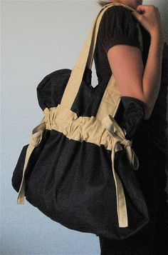 """bag/purse made out of an IKEA slipcover. so cute! could even be a diaper bag. from """"MADE by Rae"""""""