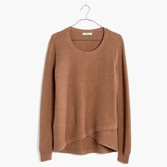 MADEWELL Feature Pullover Sweater MADEWELL feature pullover sweater. Textured sweater that has a layered look at the bottom. Very cozy. Color: Heather Twig. Size: XS, true to size. Madewell Sweaters Crew & Scoop Necks