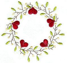 HEART PIP BORDERS. For the 4x4 hoop Prim/folk art Machine Embroidery Designs. $9.99, via Etsy.