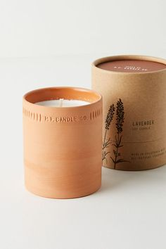 Candle Co. Terra Candle in Lavendar Candle Packaging, Candle Labels, Candle Jars, Candle Branding, Beeswax Candles, Soy Candles, Scented Candles, Rustic Candles, Large Candles