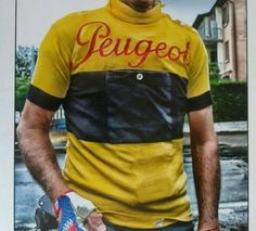 Very cool jersey Cycling Wear, Cycling Jerseys, Cycling Outfit, Vintage Cycles, Vintage Bikes, Peugeot, Fur Vintage, Touring Bicycles, Bicycle Clothing