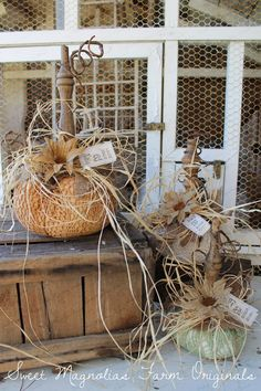 Sweet Magnolias Farm: More Sweet Magnolias Farm Originals ~ Vintage Linen and Lace Farmhouse Pumpkins just added to the shop ! ...