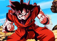 coolest dragonball gifs | HQ Goku Kaio-ken Power Up On Dragon Ball Z