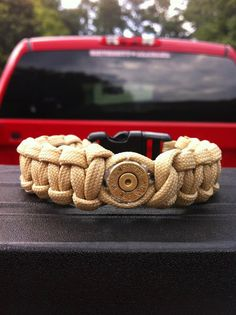 Paracord Bracelet with Bullet Shell. $12.00, via Etsy.