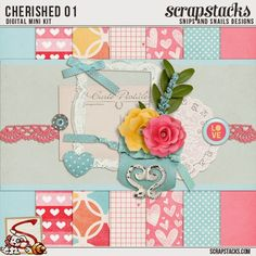 Freebie for Feb by Snips & Snails Designs Digital Scrapbooking Freebies, Digital Scrapbook Paper, Digital Papers, Scrapbook Journal, Scrapbook Supplies, Free Images For Blogs, Digital Paper Free, Pattern Paper, Paper Crafts