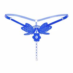 Embroidery Butterfly Sexy G-string Women Underwear Beading Sexy Low Waist