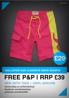 24d81a1cd60c4 Hollister San Clemente Swim Shorts RRP 39 our price 29 Free P P 100 Genuine