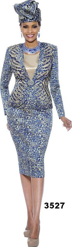 Susanna 3527 Royal Leopard Sequin 2014 Collection (Now i'nt that nice and clean) Church Suits And Hats, Women Church Suits, Church Attire, Church Dresses, Church Outfits, Suits For Women, Nice Dresses, Clothes For Women, Church Clothes